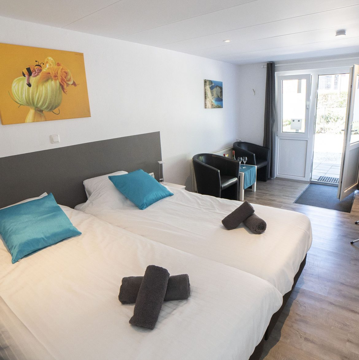 Comfort kamer met inloop-regendouche (22 m²)